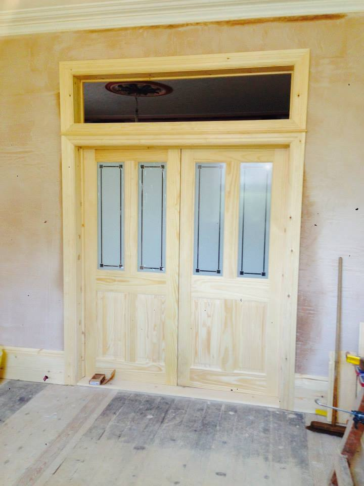 Knock-through with internal double doors